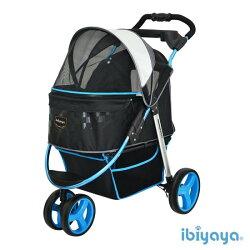 《 IBIYAYA依比呀呀 》尊爵號鋁合金寵物推車 FS1616-B(極光藍)