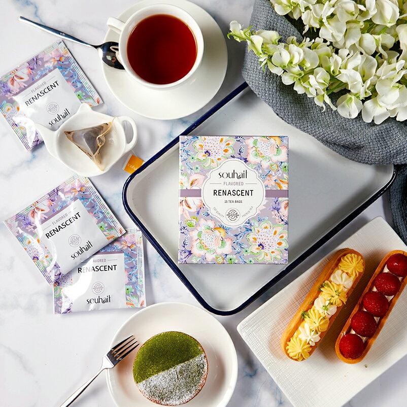 試喝包 Souhait Tea淡雅細緻法式橙香伯爵調味紅茶 - Renascent 新運重生★3 / 1~3 / 11超取滿299免運 3