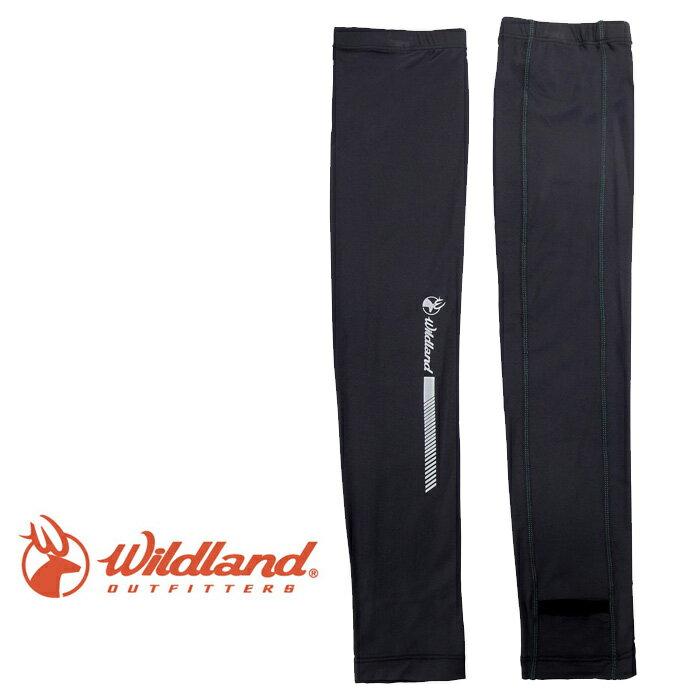 【Wildland 荒野 台灣】開洞透氣袖套 抗紫外線袖套 防曬袖套 深灰色 (W1810-93)