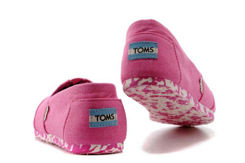 【TOMS】粉紅色花底帆布休閒鞋  Pink Earthwise Women's Vegan Classics 3