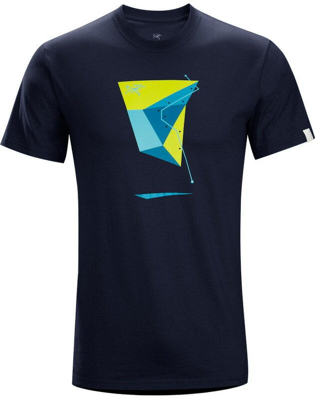 Arcteryx 始祖鳥/品牌T恤/穿搭/短袖棉T/圓領T恤 17455 Geo Sport 男款 海軍藍