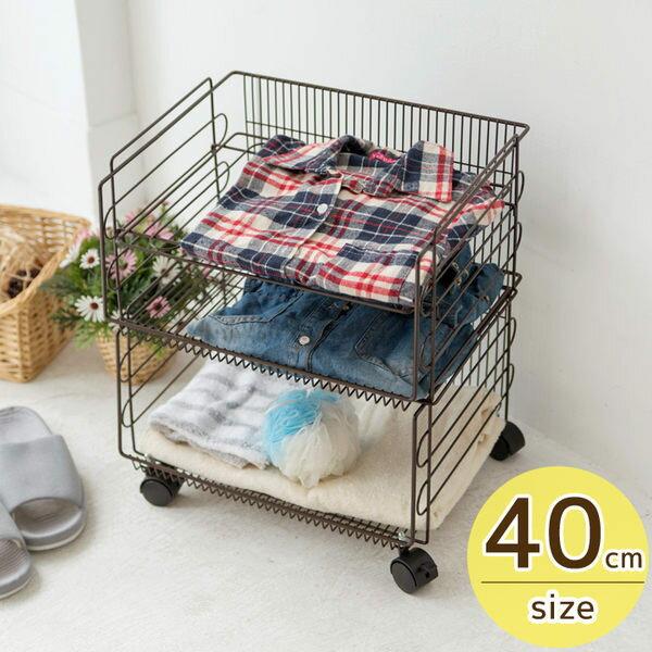 堆疊收納籃/收納 加寬40cm兩層堆疊籃車-咖 MIT台灣製 完美主義 收納架 收納箱【I0115】
