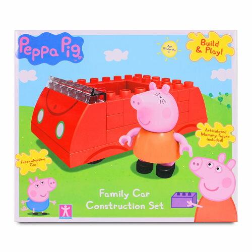 《 Peppa Pig 》粉紅豬小妹積木系列 - 粉紅豬的車