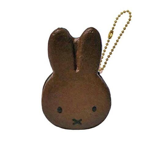 巧克力款【日本進口正版】米飛兔 甜點 捏捏吊飾 美食 吊飾 擺飾 捏捏樂 Miffy 軟軟 - 612007