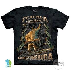 【摩達客】(預購) 美國進口The Mountain 美國男教師 純棉環保短袖T恤