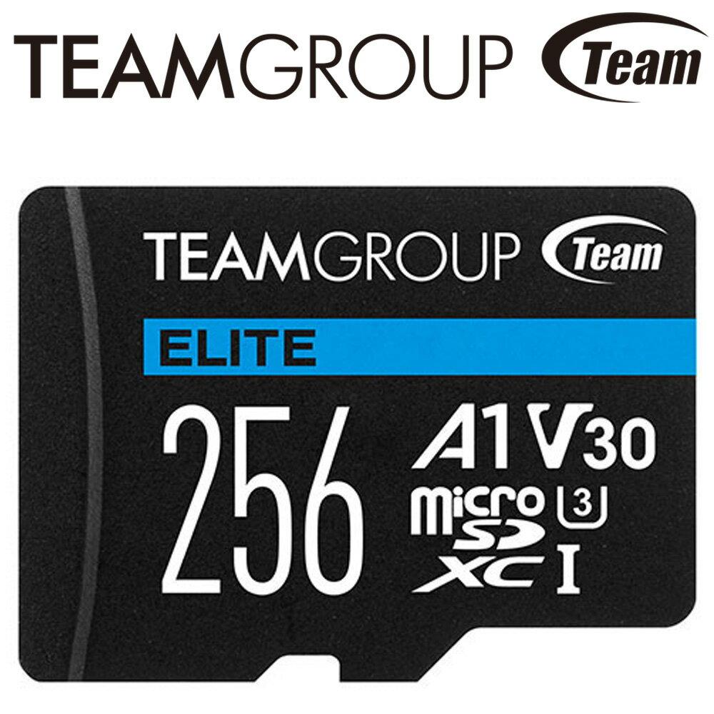 Team 十銓 256G 256GB ELITE microSDXC TF UHS-I U3 A1 V30 記憶卡