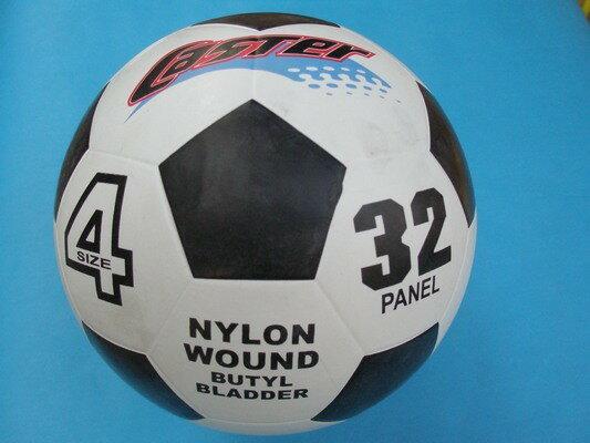 CASTER4號足球標準4號足球(橡膠五角黑格)一個入{定220}