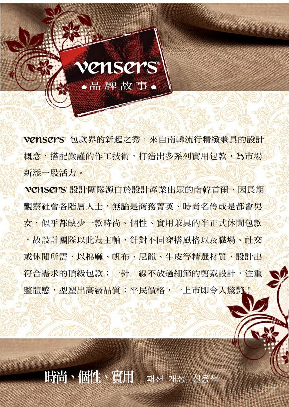 【vensers】簡約丹寧牛仔後背包(R00066101黑色) 7