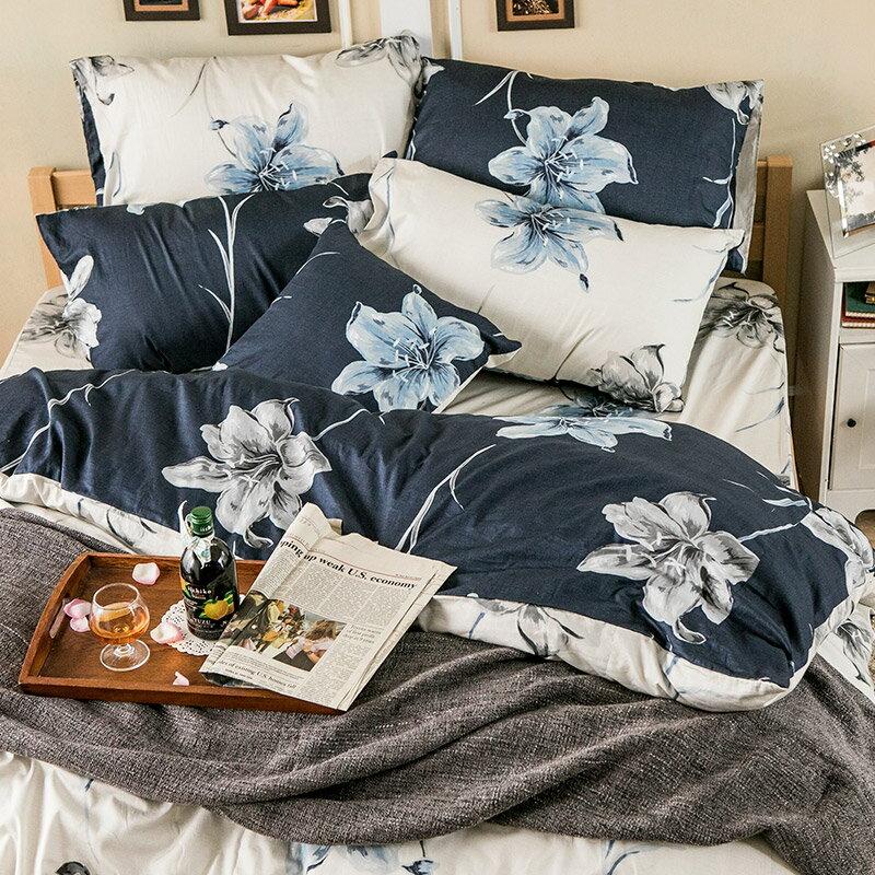 床包兩用被套組  /  雙人-100%精梳棉【漫漫花徑米】含兩件枕套,花語系列,戀家小舖,台灣製 4