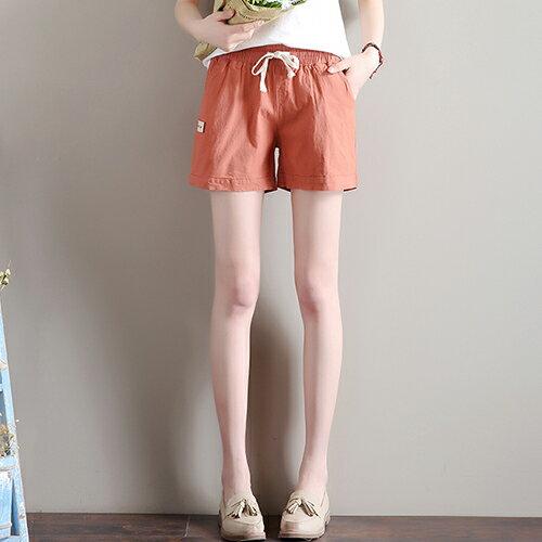 寬鬆緊腰亞麻休閒褲(7色S~3XL)【OREAD】 0