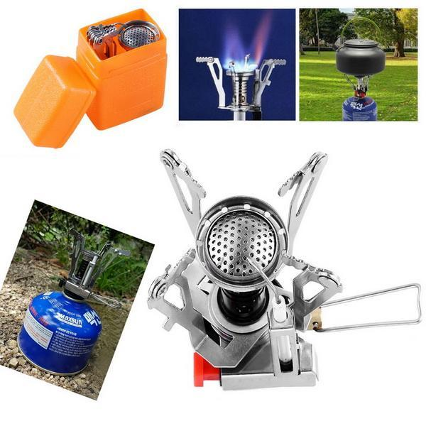 Ultralight Portable Gas Butane Propane Canister Outdoor Camping Stove Burner 5
