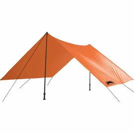 [ RHINO ] 炊事帳/露營帳篷/露營用品 F06 六人輕量雨蓋/外帳天幕/地布 附營釘營繩 橘色