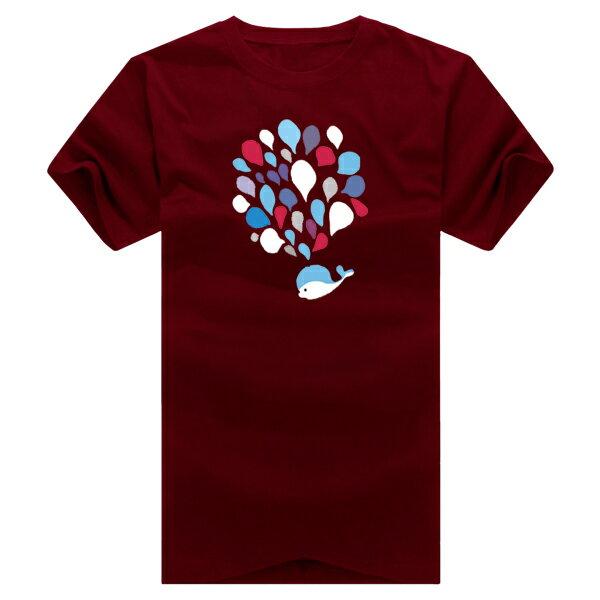 T恤 情侶裝 客製化 MIT台灣製純棉短T 班服◆快速出貨◆獨家配對情侶裝.小鯨魚大噴水【YC216】可單買.艾咪E舖 8