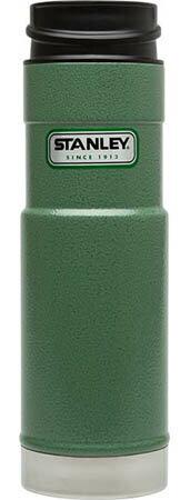 ├登山樂┤ 美國 Stanley 經典系列 單手保溫咖啡杯 0.59L-錘紋綠 # 10-01568-GN 0