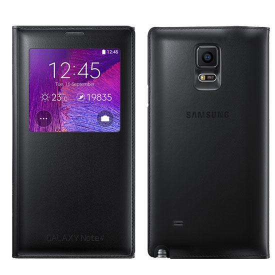 經典版【NOTE4 原廠皮套】Galaxy NOTE4 N910 N910U S-VIEW 原廠晶片透視感應皮套【原廠盒裝公司貨】
