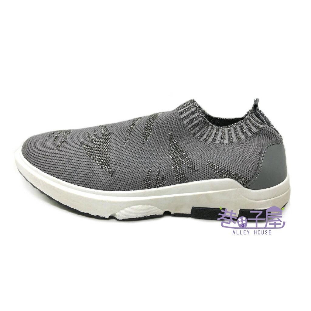 JIMMY POLO 男款仿舊彈性造型編織襪套鞋 運動休閒鞋 [7003] 灰【巷子屋】