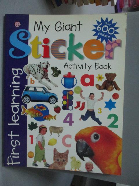 ~書寶 書T3/少年童書_ZFR~My Giant Sticker Activity Bo