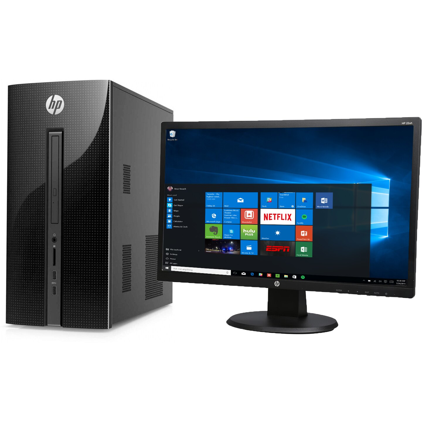 "HP 251-A123WB Pentium J2900 Quad-Core 2.41GHz 4GB 1TB Mini-Tower & 21.5"" Monitor 0"