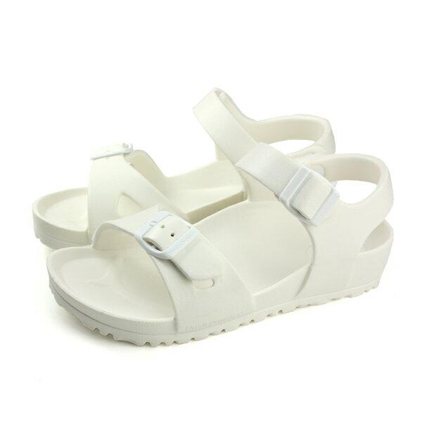 【買鞋贈送收納袋】【數量有限送完為止】HushPuppies涼鞋勃肯鞋白色男鞋6182U180209no142