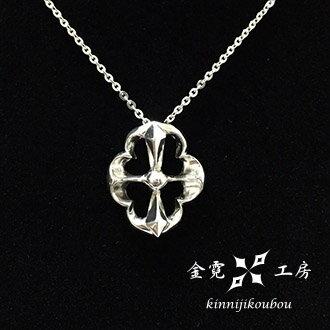 【金霓工房客製化手工銀飾品】為你祈禱 #簍空幸運葉造型純銀項鍊(含銀鍊)