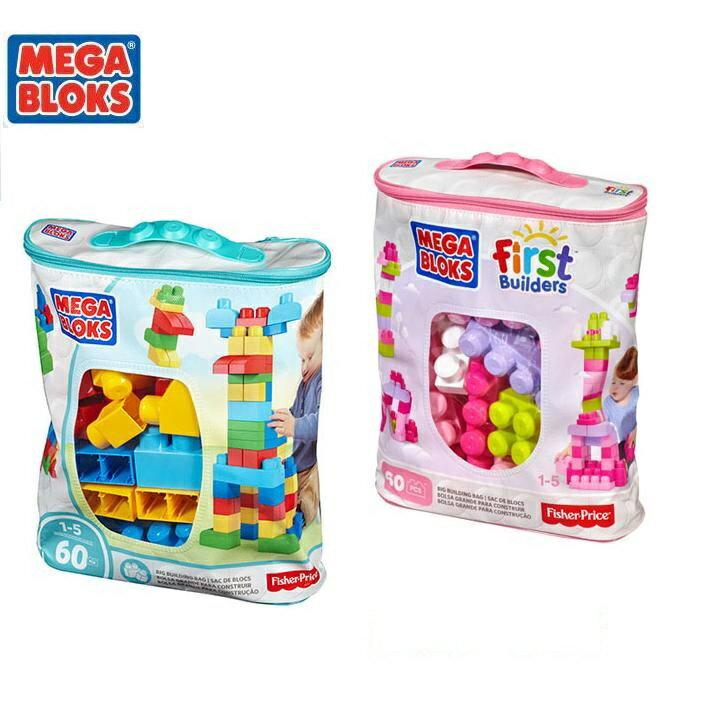 *美馨兒* MEGA BLOKS 美高 60片積木袋 (二色可挑) 590元