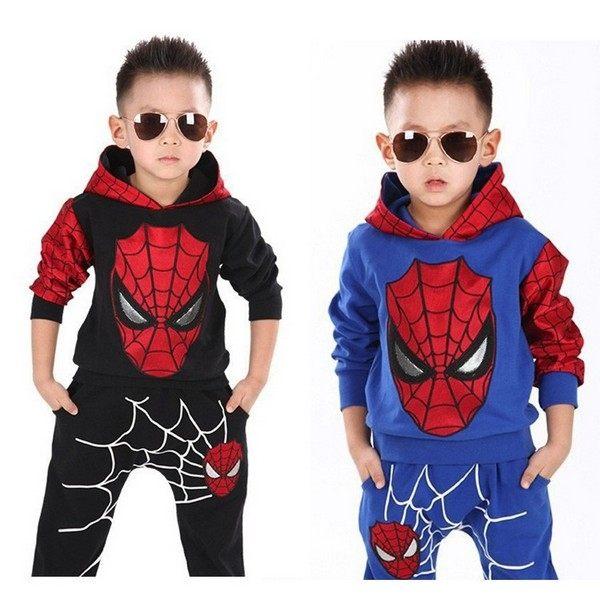長袖套裝 蜘蛛人連帽家居服套裝 嬰幼兒童裝 SK164 好娃娃