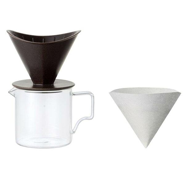 黑色KINTO手沖咖啡壼400ml兩人份日本帶回磁器與濾紙日本製