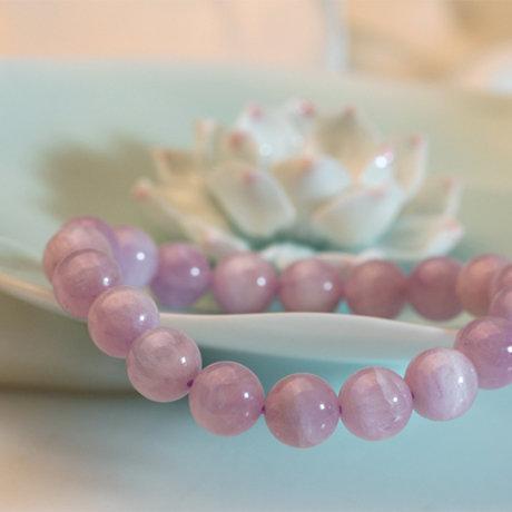 水晶飾品 水晶皇後薰衣草色紫鋰輝手鏈女款