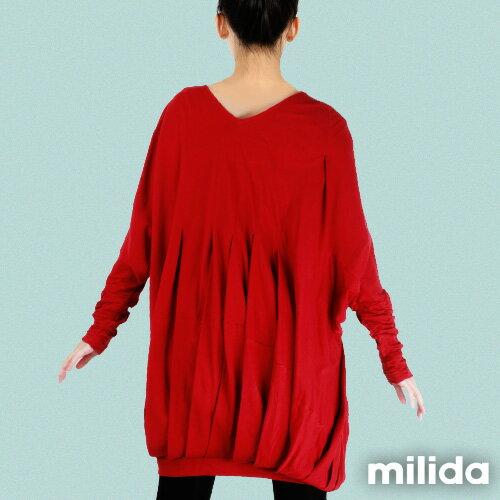 【Milida,全店七折免運】-秋冬單品-洋裝款-飛鼠袖休閒風 2