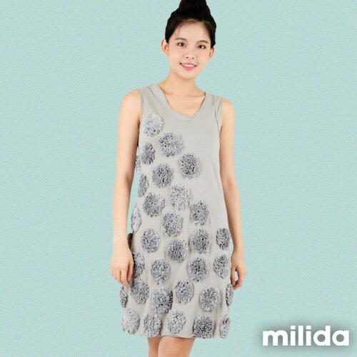 【Milida,全店七折免運】-早春商品-無袖款-獨家設計洋裝 0