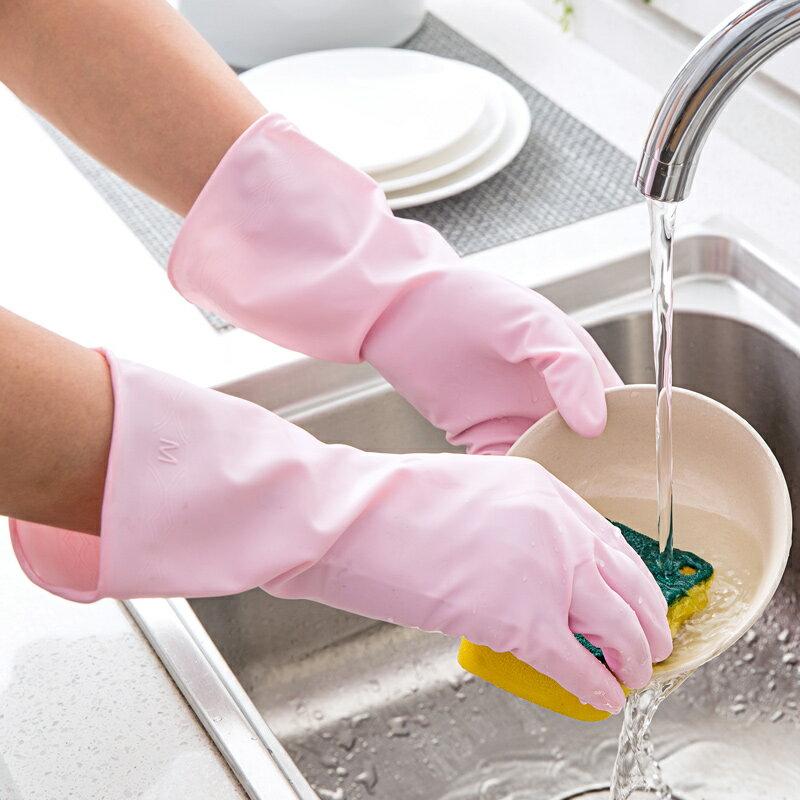 日本進口廚房家務手套洗碗洗衣服乳膠膠皮手套PK橡膠手套清潔手套