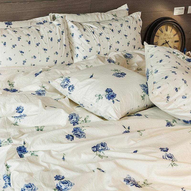 床包被套組  /  雙人- 100%精梳棉【玫果雪酪-兩色】含兩件枕套 在巴黎遇見系列 浪漫碎花 戀家小舖 台灣製 0