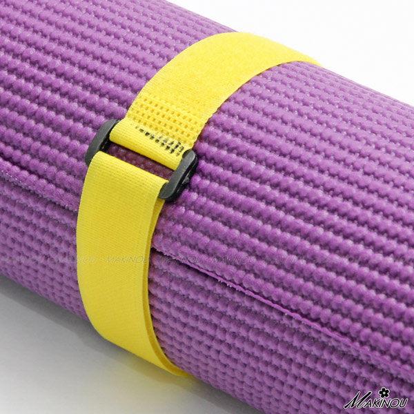 瑜珈|魔鬼氈瑜珈束帶-6MM瑜珈墊適用|日本MAKINOU 電線線路收納 簡易 牧野丁丁