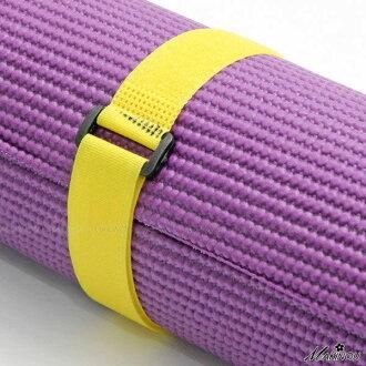 日本MAKINOU 瑜珈墊束帶|簡易瑜珈魔鬼粘捆帶|綁帶收納帶運動用品收納瑜珈用品綁繩