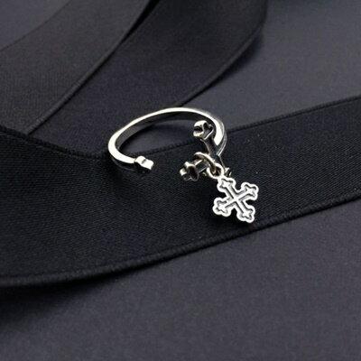 925純銀戒指銀飾~ 十字架 生日情人節 女飾品73ic10~ ~~米蘭 ~