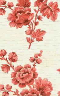 壁紙屋本舖:花紋壁紙紅色大花壁紙復古壁紙WD-202