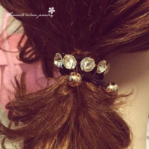 排鑽造型髮束10095【櫻桃飾品】【10095】