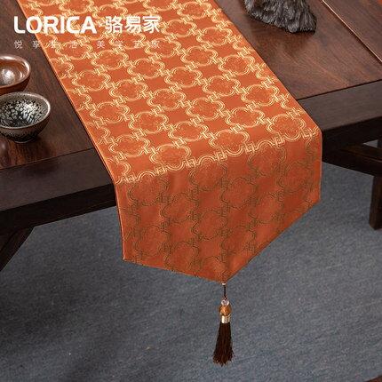 桌旗 新中式桌旗禪意現代簡約茶几餐桌布長條裝飾布北歐電視櫃蓋巾定製『LM1021』
