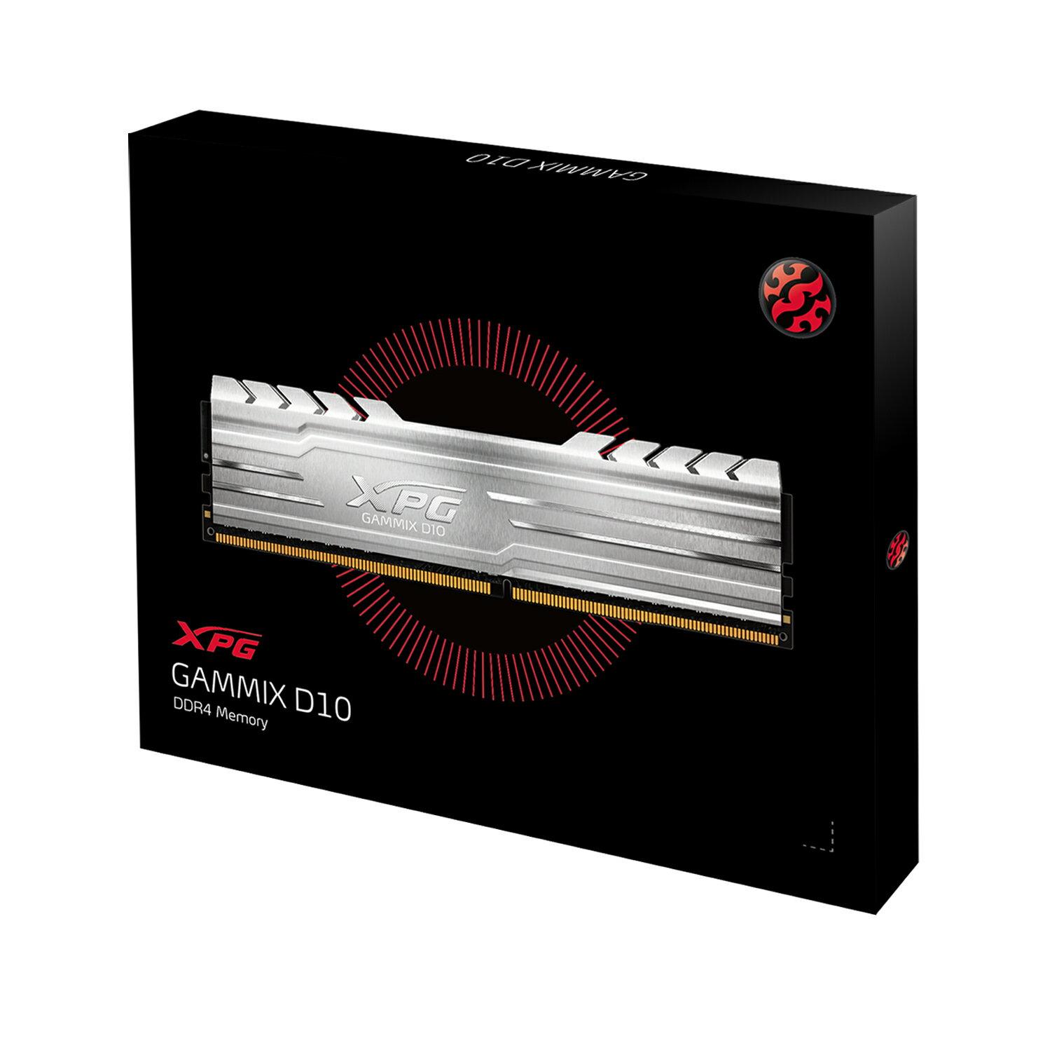 ADATA XPG GAMMIX D10 32GB (2 X 16GB) 288-Pin DDR4 SDRAM DDR4 3200 CL16 (PC4  25600) Desktop Memory Model (AX4U3200316G16F-DS10)