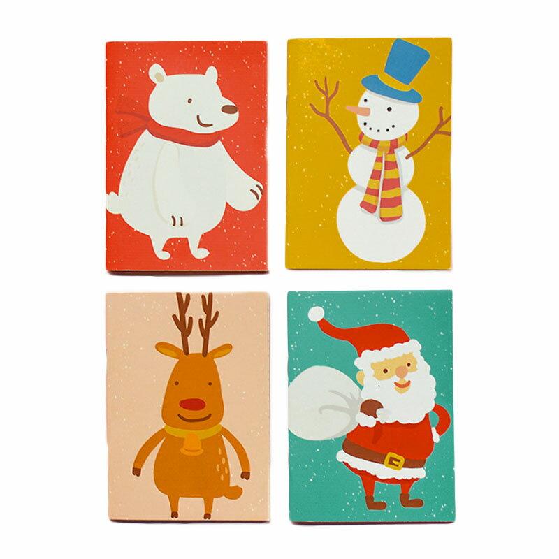 聖誕節迷你筆記本 記事本 隨身筆記本 交換禮物 禮品 文具 贈品 聖誕節 【HS10】