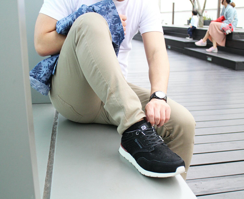 【KILDARE 5折│全店免運】KILDARE綁帶休閒鞋 黑 男 慢跑 8