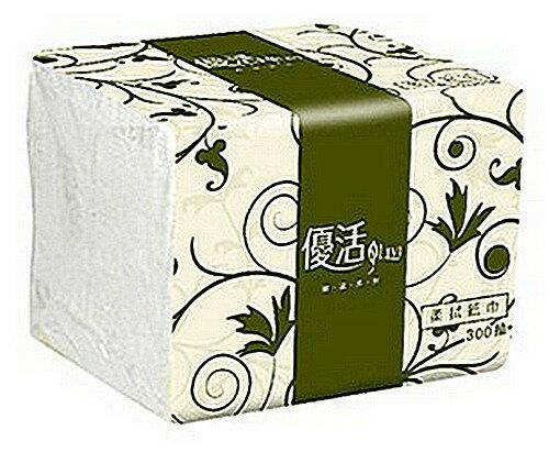 【文具通】現貨快速出貨 優活 柔拭 紙巾 衛生紙 約195x105mm 300抽 P1040080