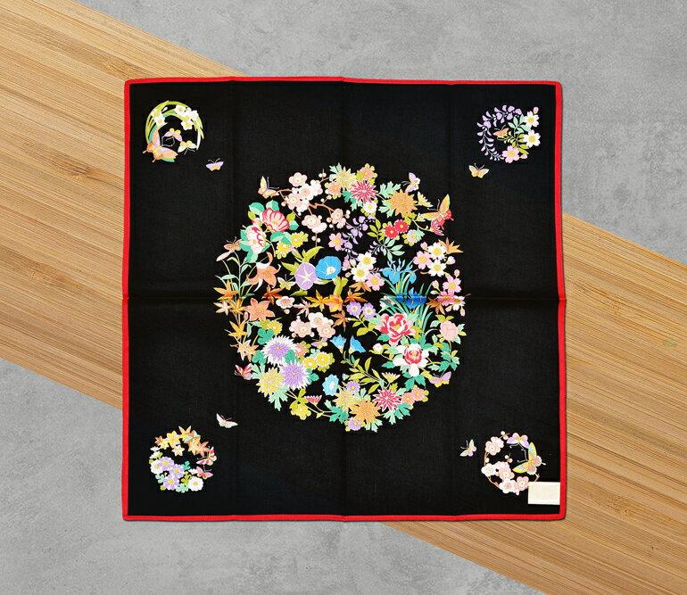 日本集采苑 - Flower 百花繚乱(黑)《日本設計製造》《全館免運費》,親自手作專業的手染技法與縫紉