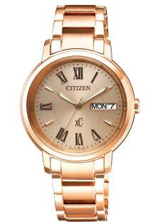 CITIZEN星辰錶EW2422-55XxC亞州限定魅力光動能羅馬女錶玫瑰金33mm