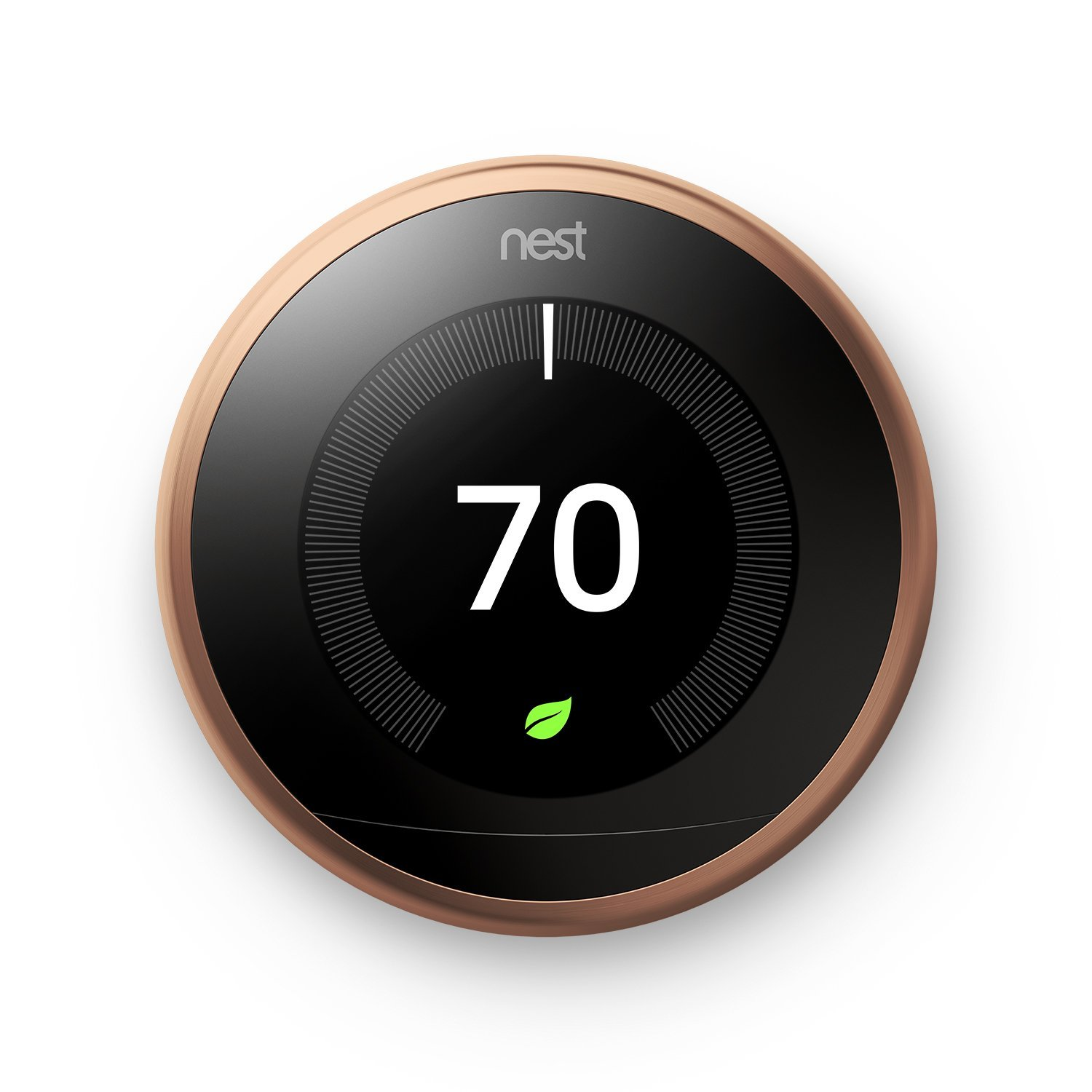 Nest Learning Thermostat 3rd Generation, Copper, Works with Amazon Alexa 0