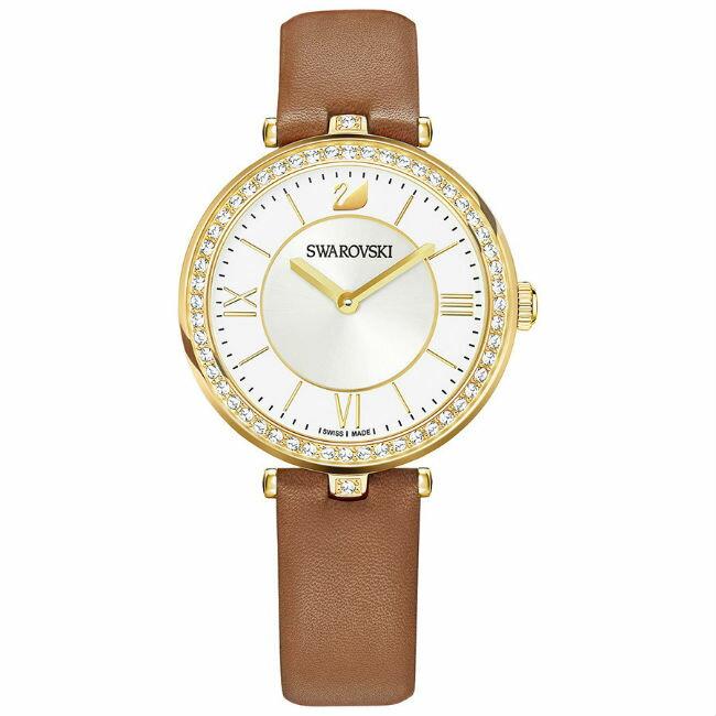 Swarovski 施華洛世奇 5376645 Aila Dressy Lady 魅力腕錶 / 卡其 34mm - 限時優惠好康折扣