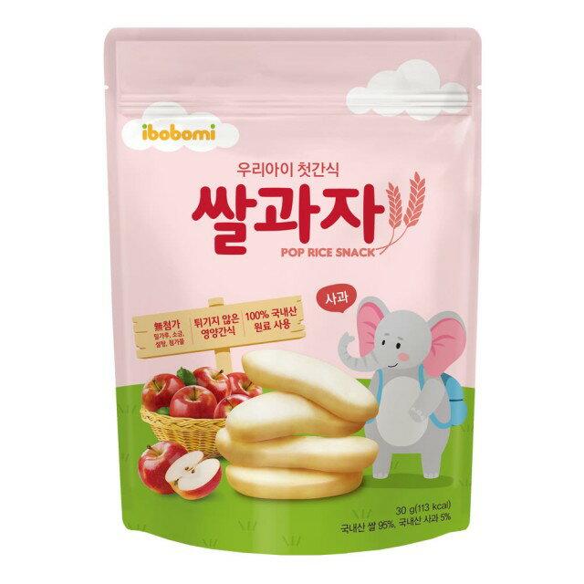 韓國 ibobomi 嬰兒米餅30g(原味/蘋果/菠菜)【母親節推薦】