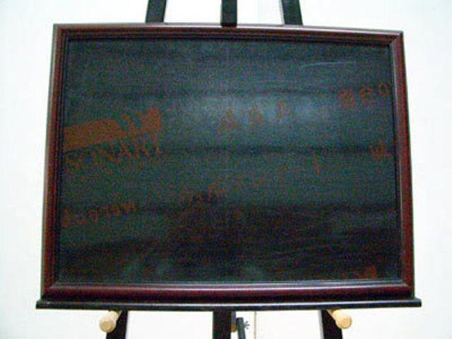 【高林軟木社】柚木框磁性鏡面黑板