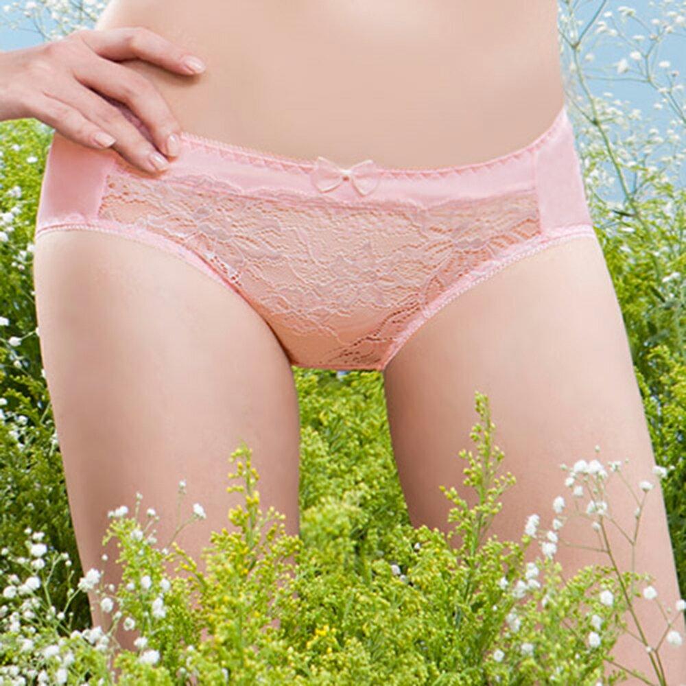 【AJM】《台灣製》舒適花蕾絲款三角褲(粉) 0