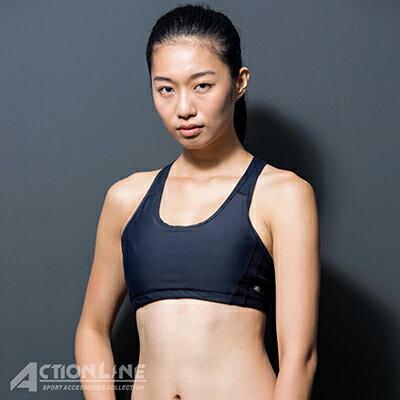 【ACTIONLINE】爬線網布運動內衣-黑 - 限時優惠好康折扣